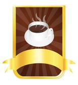 Coffee label — Stock Photo