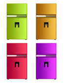 Colored fridge — Stock Photo