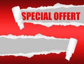 Special offer torn paper — Stock Photo