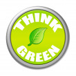 Think green button — Stock Photo