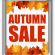 Autumn leafs sale — Stock Photo #6111801