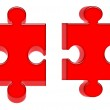 Red 3d puzzles — Stock Photo