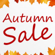 Autumn sale — Stock Photo #6112034