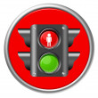 Traffic light button — Stock Photo