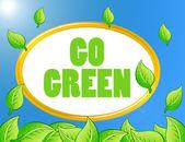 Go green background — Stock Photo