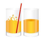 Glass of juice orange — Stock Vector