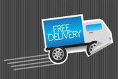 Free delivery sticker — Stock Vector