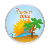 夏の時間. — ストックベクタ