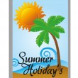 Summer holidays tag — Stock Vector