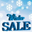 Winter sale background — Stock Vector