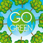 Go green background — 图库矢量图片