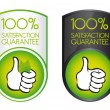 100 satisfaction guarantee — Vector de stock #6366305