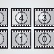 Stock Vector: Film strip countdown