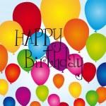 Balloons happy birthday — Stock Vector #6366353