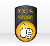 100 satisfaction guarantee sign — Stock Vector