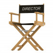 Royalty-Free Stock Photo: Action: directors chair isolated on white