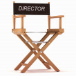 Cinematography: directors chair on white — Stock Photo