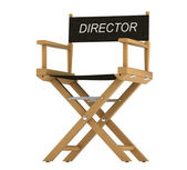 Action: directors chair isolated on white — Stock Photo