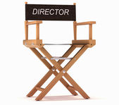 Cinematography: directors chair on white — Stok fotoğraf
