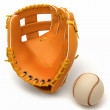 Stock Photo: Sports in USA: baseball glove and ball