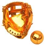 ������, ������: Sports in USA: golden baseball glove and ball