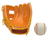 Sports: baseball glove and ball isolated — Stock Photo