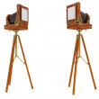 Back Side views of vintage large format camera — Stock Photo #6542848