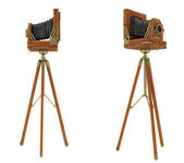 Side views of vintage large format camera — Stock Photo