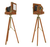 Vintage large format camera isolated — Stock Photo