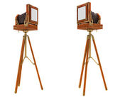 Back Side views of vintage large format camera — Stock Photo