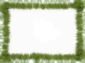 Bamboo frame isolated over white — Stock Photo