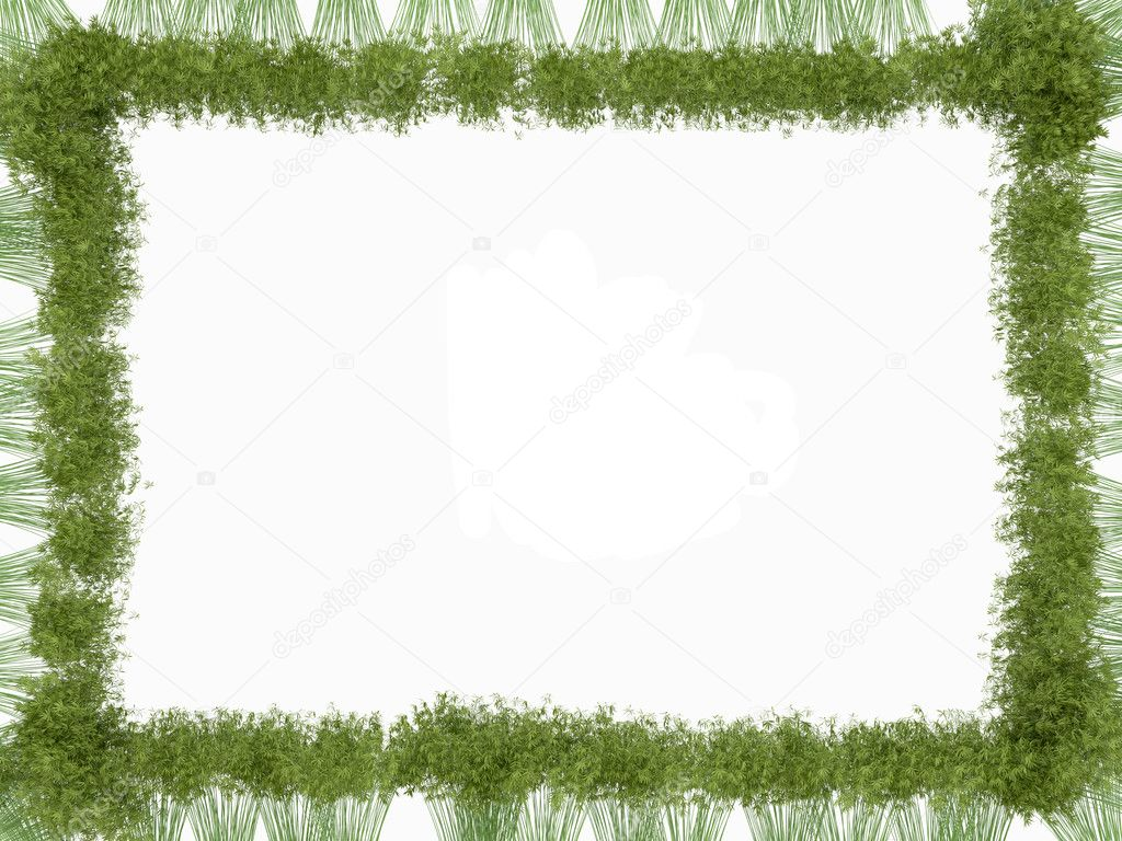 Bamboo frame isolated over white. Usedul as natural pattern — Stock Photo #6543085