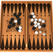 Leisure activity: wooden backgammon isolated — Stock Photo #6588374