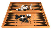 Opportunity: backgammon with chips and dice — Stock Photo