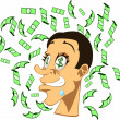 Money rain - Stock Vector