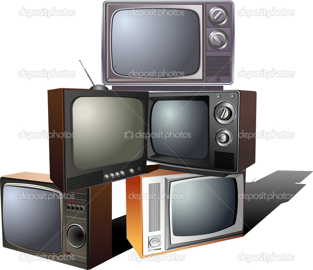 pyramid of retro tv stock vector november17 6246507. Black Bedroom Furniture Sets. Home Design Ideas