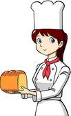 Woman baker — Stock Vector