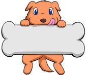 Dog and bone — Stock Vector