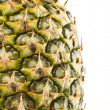 Ripe pineapple isolated on white background - Stock Photo