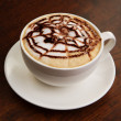Chocolate cappuccino time.Cup of coffee - Stockfoto