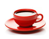 Red cup of coffee — Foto Stock