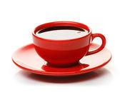 červené šálek kávy — Stock fotografie