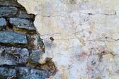 Vecchio muro di mattoni come sfondo — Foto Stock