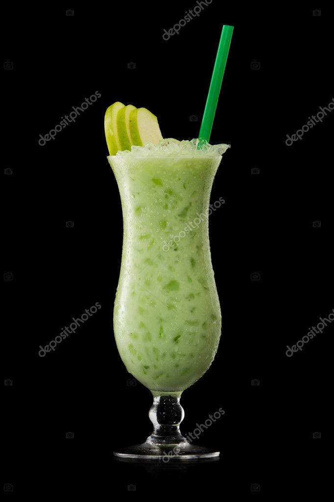 Green apple cocktail stock photo igorklimov 5701536 for Green apple mixed drinks
