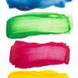 Colorful watercolor brush strokes — Stock Photo