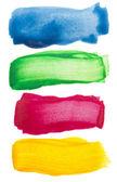 Colorful watercolor brush strokes — Stock Photo