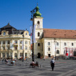 Main square historical Sibiu — Stock Photo
