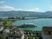 Lake Zurich in Rapperswill, Switzerland — Stock Photo