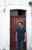 Man door — Stock Photo