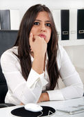 Bored business woman — Stock Photo
